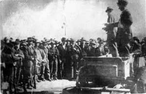 The Ludlow, CO, coal strike, 1914 - National Guarld kills 20 people, including 11 kids, at the strikers' tent city