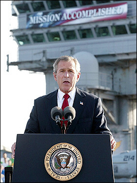 owe-bama photo op earlier year mission remove saddam hussein power