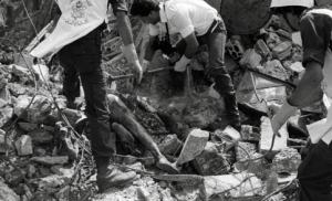 A body in the rubble at Sabra