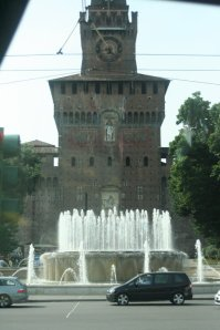 The Sforzzo Palace, from the bus